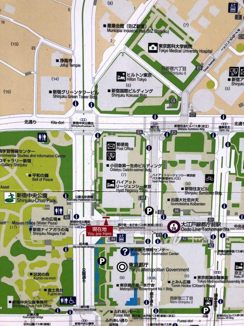 西新宿の地図