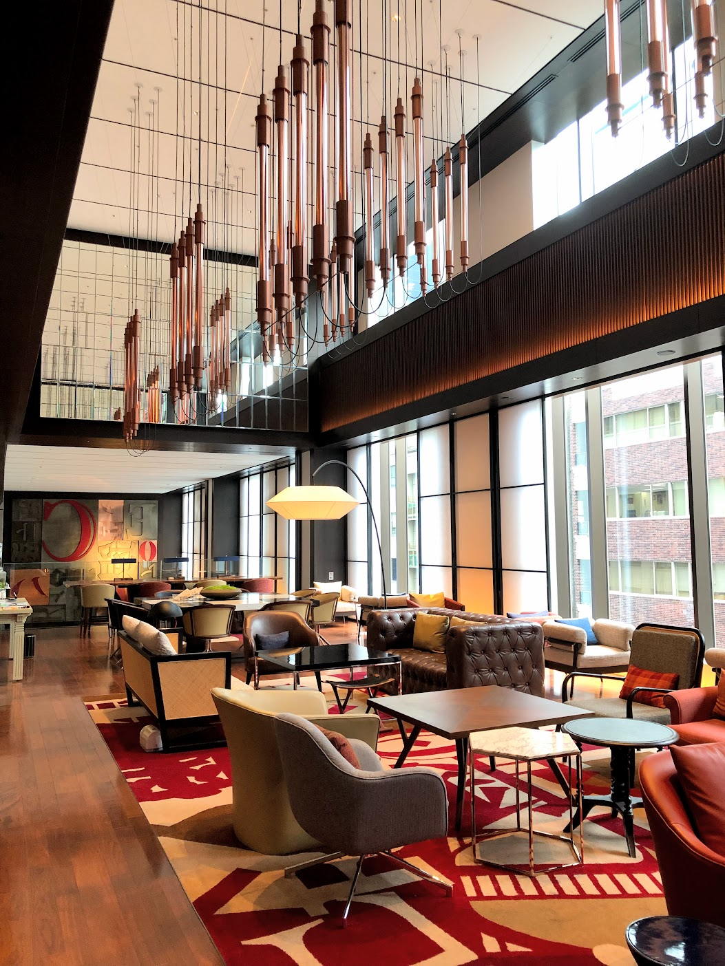ホテルのラウンジカフェ